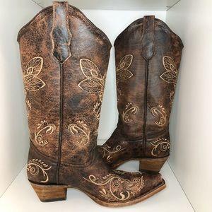 Circle G Dragonfly Cowboy Boots